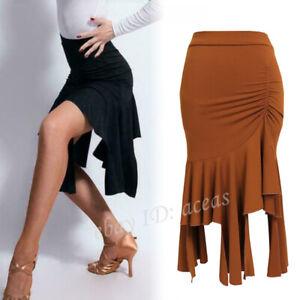 Womens-Latin-Salsa-Tango-Rumba-Samba-Cha-Cha-Cowboy-Ballroom-Dance-Dress-Skirts