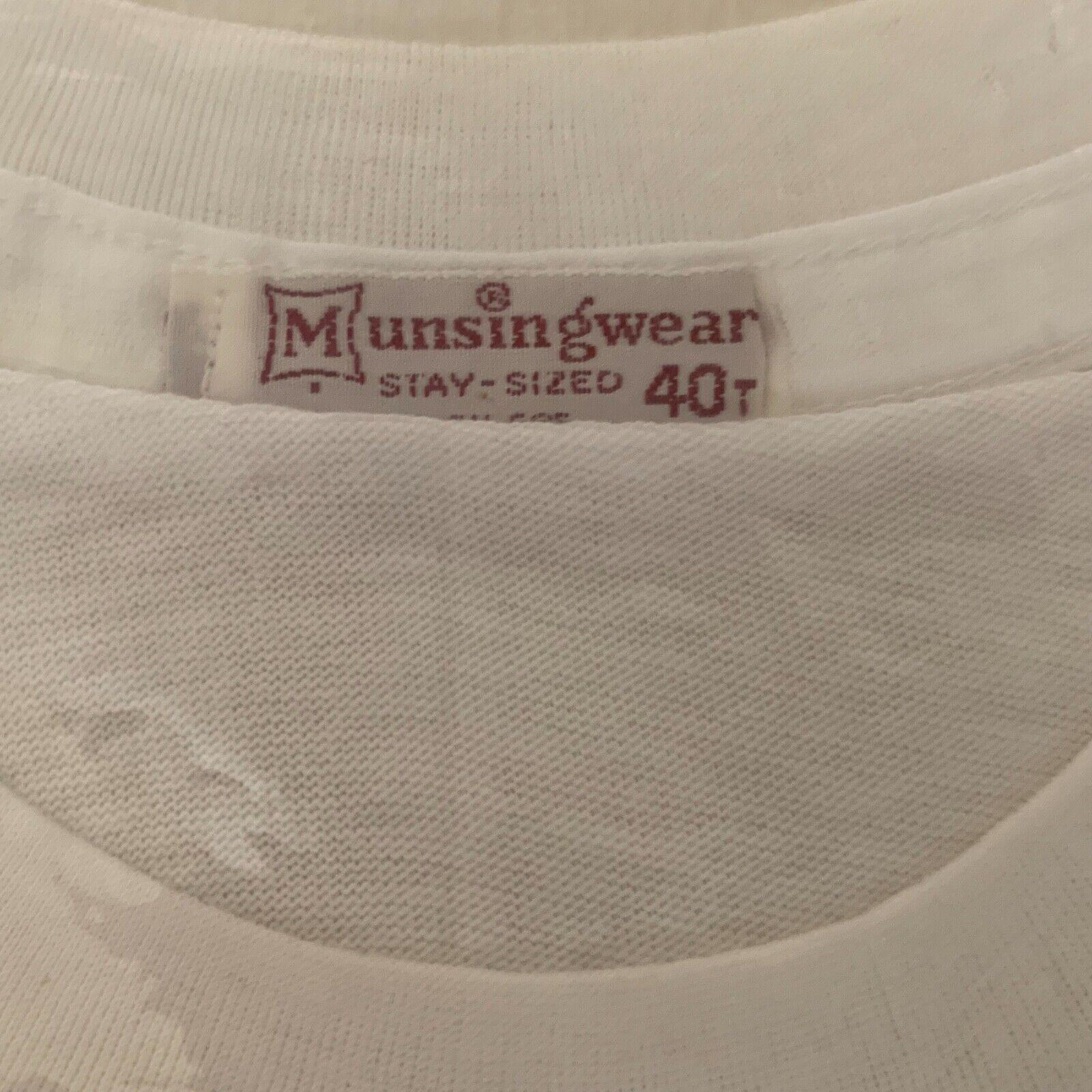 Vintage 1960's  Munsingwear Blank Plain White Cot… - image 2