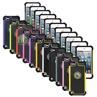 NEW LOT Hybrid Rugged Rubber Hard Case for Apple iPod iTouch Touch 6 100+SOLD