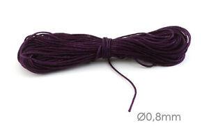 10m Makramee Band Schmuck Kordel Ø0,8mm Violett Flechten Knoten Kumihimo
