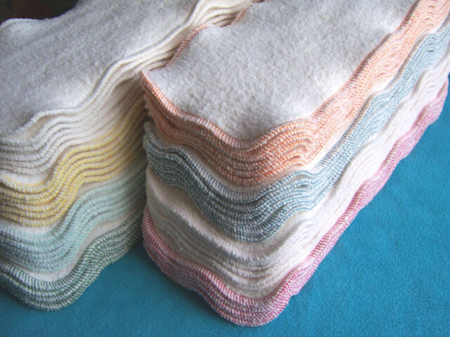 13 x 5 Hemp Organic Cotton Fleece Cloth Diaper Liners Doublers Booster Soaker