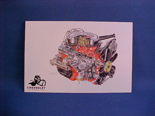 Chevy 350 V8 1967 Camaro L48 collector card by David Kimble--GM Heritage Anniver