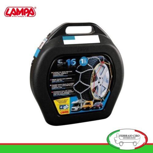 Catene da neve 215 75 16 215//75r16 16mm Lampa S16 Suv Furgone Gruppo 24-16107