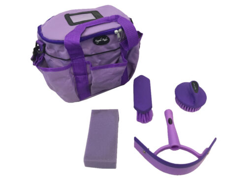 Knight Rider Horse complete with bag and accessories Pony PURPLE grooming kit