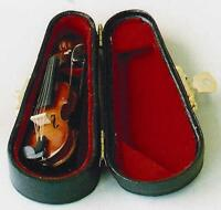 Miniature Model Of A Violin With A Black Carrying Case