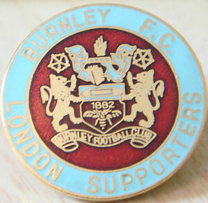 BURNLEY FC Rare LONDON SUPPORTERS CLUB Badge Brooch pin In ...