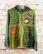 Rising International NWOT Colorful Patchwork Hoodie/Jacket Boho Hippie Medium