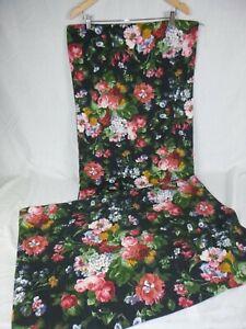 Pr Ralph Lauren Isadora Cosette Std Pillowcases Black Floral 100% Cotton