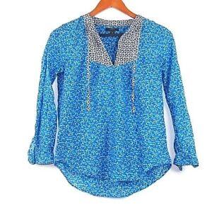 Women s J. Crew Peasant Top in Flowerpatch Print Cotton Silk Blouse ... 35e0f07858