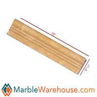 Noce Travertine Chair Rail Molding - Honed For Wall