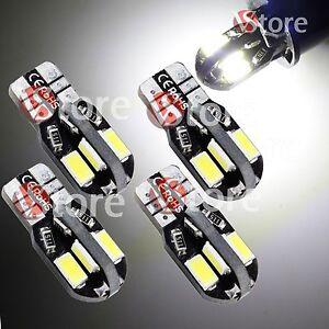 4-Lampade-LED-T10-HID-8-SMD-Canbus-NO-ERRORE-5730-BIANCO-Posizione-Auto-W5W