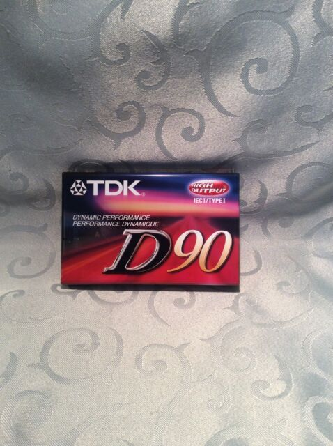 TDK D90 min Audio Cassette - IECI / TypeI High Output - Factory Sealed - Blank
