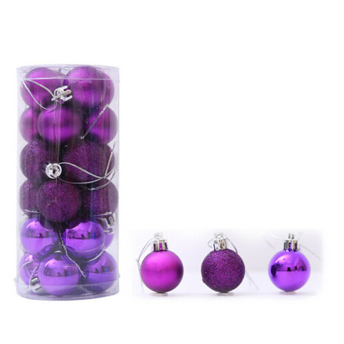 24 PCS Christmas Tree Ball Baubles  Party Wedding Hanging Ornament Supplies New!