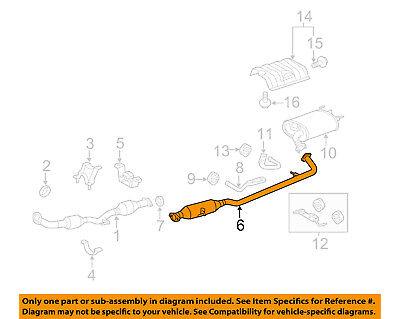 [DIAGRAM_5FD]  Toyota OEM 07-11 Camry 2.4L-L4 Sistema De Escape-Tubo Central 174200V060    eBay   2102 Camry Engine Diagram      eBay