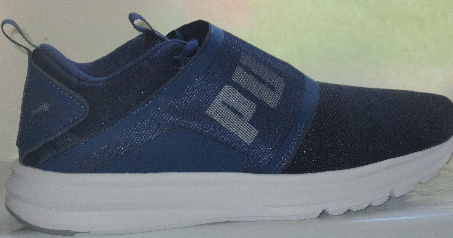 MEN'S PUMA ENZO STRAP KNIT ATHLETIC WALKING BLUE DEPTHS-BLAC SHOES SIZE 11