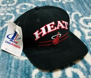 Vintage 90s Miami Heat Logo 7 Script Ajustable Hat Official Nba Ball Cap Nwt Ebay
