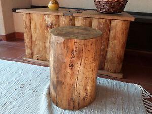 Albero tronco tronco di legno sgabello legno massello radice legno