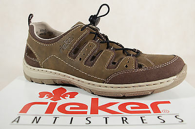 Rieker Slippers Sneakers Low Shoes Brown Soft Leather Insole 15256 New | eBay