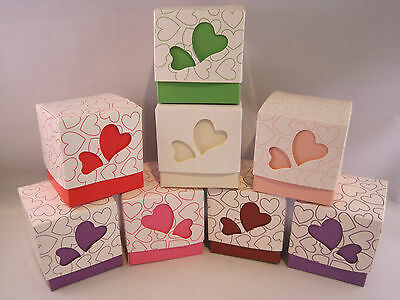 Love Heart Wedding Favour Boxes Two Piece Party Box - Various Colours Available