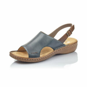 Rieker 628M6 14 Navy Womens Slip On Mule Sandals | SALE