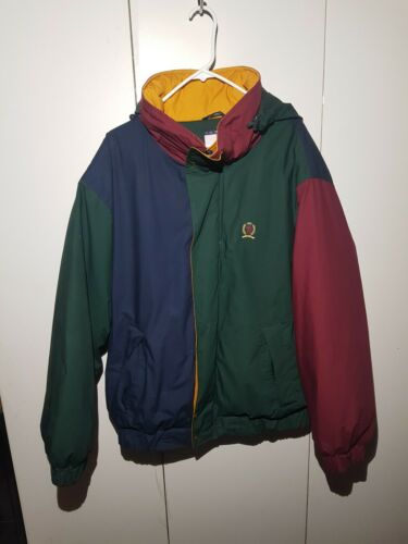 Vintage Tommy Hilfiger Color Block Jacket RARE Siz