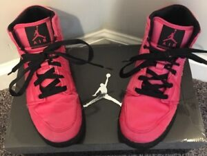 5ab954a034b4 Girls Nike Air Jordan I 1 Phat Dance Spark Pink Black GS 2011 sz 4.5 ...