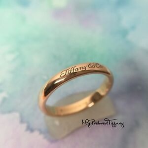 b1e5abba2 Excellent Authentic Tiffany & Co. Notes Ring Logo Rose Gold 750 6 RP ...
