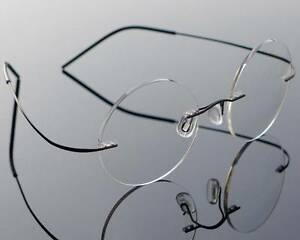 Senza-Montatura-Rotondo-Titanio-Occhiali-da-Vista-Telaio-Uomo-Retro-Occhiali