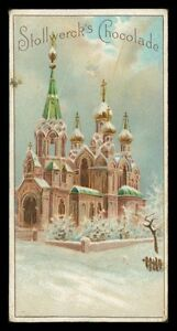 STOLLWERK-SAMMELBILD-um-ca-1900-KIRCHE-RUSSLAND-RUSSIA-HERRLICHES-LITHO-h0292