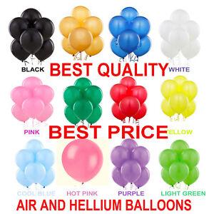 RANGE-Latex-PLAIN-BALOONS-BALLONS-helium-BALLOONS-Quality-Party-Birthday-Wedding