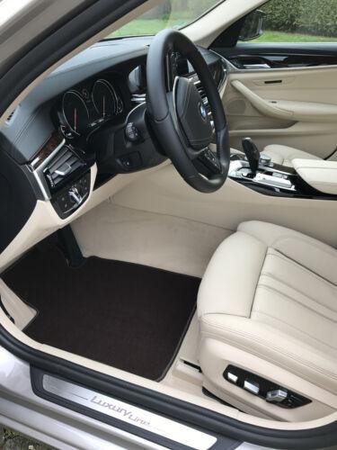 Fußmatten passend für Jaguar XJ X350 kurze Version Velours Deluxe dunkelbraun