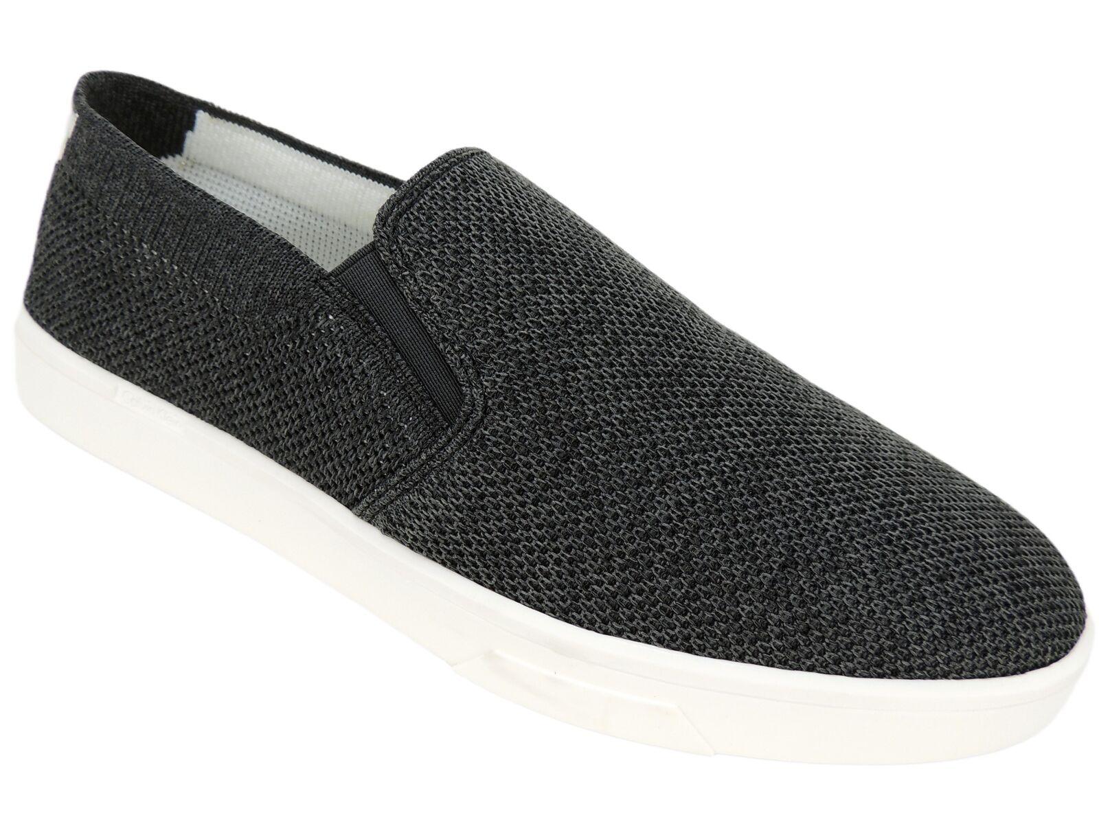 Calvin Klein Women's Inca Slip On Sneakers Black Stretchy Knit Size 8.5 M