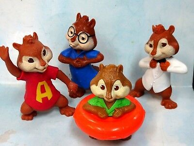 Mcdonalds Alvin The Chipmunks Alvin Simon Theodore Figures 4pcs Cute Ebay