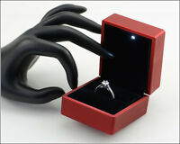 - Led Lighted Jewelry Ring Box - Usa Seller - Free Shipping