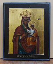 Alt- russische Ikone Gotesmutter Tschernigovskaja 2 Hälfte 19 Jh. Südrussland