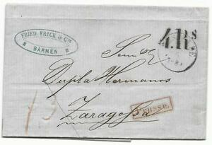 Preussen-Brief-aus-1861-der-Familie-Frick-von-Barmen-nach-Zaragossa-07-05-1861