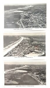 c1940s-GOLD-COAST-QLD-3-x-MURRAY-AERIAL-VIEWS-1-7-15-REAL-PHOTO-POSTCARDS