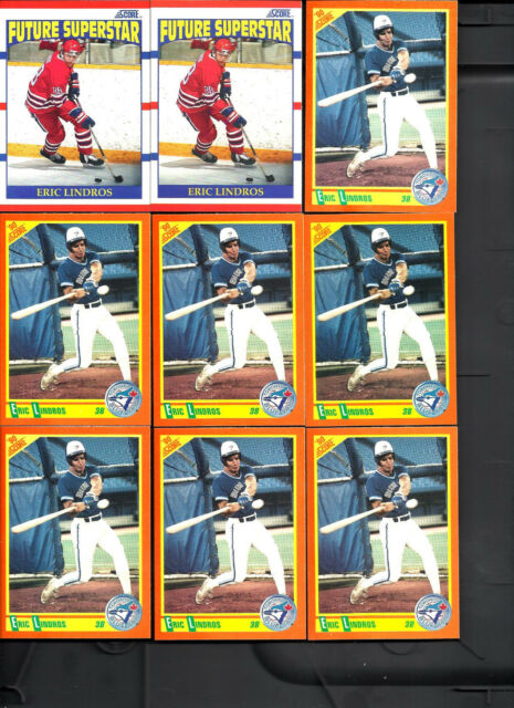 50 Card Eric Lindros Lot Score Trd Canada Capt Score RC Playoff All Scanned