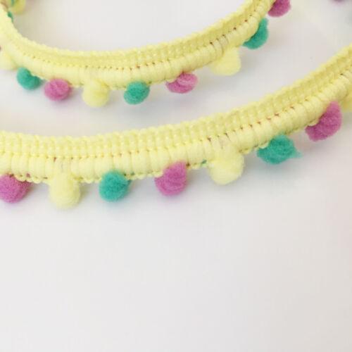 MINI PEARL Mixed Pom Pom Bobble Trim Braid Fringe Ribbon Edging Craft Decoration
