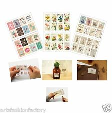 2-sheet (16-count )Mix Pattern Stamps Scrapbook Deco Craft Stickers Sticker