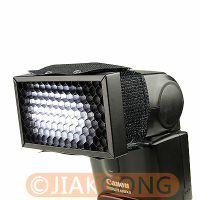 Honey Comb Grid Spot Filter for Hot shoe Flash Canon Nikon Sony