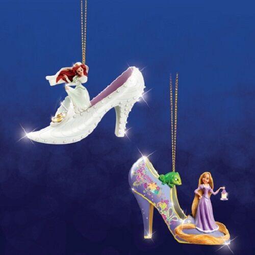 Disney's Once Upon a Slipper Ornaments - Ariel and Rapunzel Figures set 7