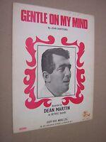GENTLE ON MY MIND. DEAN MARTIN. 1968 VINTAGE SHEET MUSIC SCORE