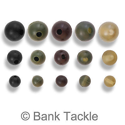 100 x 8mm Black Soft Rubber Shock Beads for Fishing  Free P/&P!!