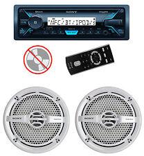 "Sony DSXM55BT MP3/USB Marine Receiver Bluetooth + 2) 6.5"" 140W Speakers White"