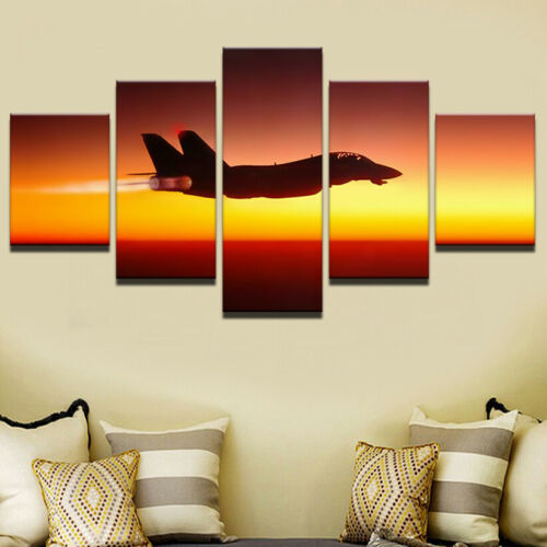 F14 Tomcat Fighter aircraft 5 Pieces canvas Wall Art Print Picture Home Decor