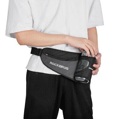 RockBros Waist Bag Fitness Yoga Running Water Bottle Belts Sport Bag Black