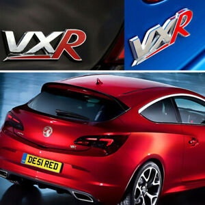 1Ps-VXR-Emblems-Alloy-Badge-Black-amp-Red-Rear-Trunk-Tailgate-Sticker-For-Vauxhall