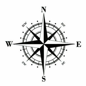 Pro-DIY-Compass-Vinyl-Decal-Car-Sticker-Decals-Decorative-For-Auto-Car-Wind-N5G1
