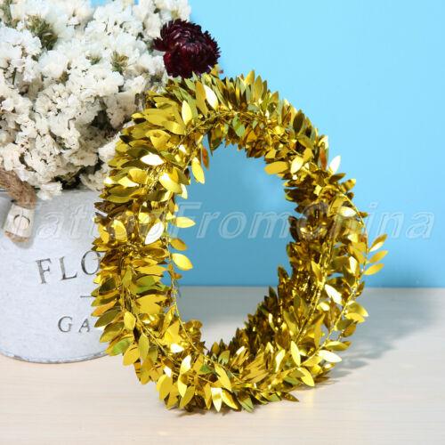 Silk DIY Crafts Wreath Leaves Garland Leaf Vine Iron Wire Artificial Flower 7.5M